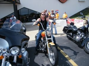 Florida-Georgia Line band member Tyler Hubbard looking good on the bike supplied by the Kegels