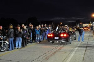 A Wounded Warrior tribute parade was part of the Friday Hot Summer Nights excitement