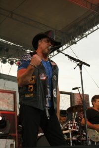 Trace Adkins showed his support by performing in a Hogs and Heroes vest