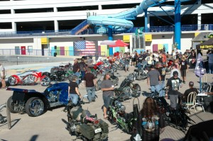 The Rat's Hole Chopper Show at Daytona Waterpark had 45 radical customs vying for top honors