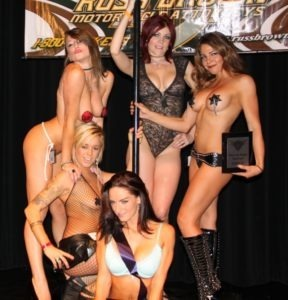 The lovely ladies of the Miss Las Vegas BikeFest competition please the many eager lenses at the Cashman Center