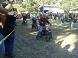 Mastering the minibike races in front of a packed house