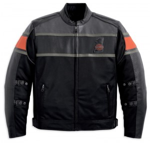 Harley-Davidson Rumble Mesh w/ Leather Accents Jacket - front