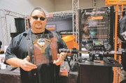 Ed Files of Cycle Sounds won his first ever V-Twin Expo award for the Rock Box that earned Audio Product of the Year