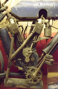 SN T778 on this engine agrees with 1908 production records, but the unique motorcycle suggests either original customization or that it was factory built for endurance competition