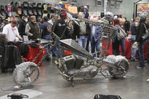 A true chain-drive Harley by Arcangel Metal Artworks of Concord
