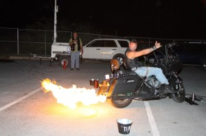 Hey Torch, dude your bike is on fire!