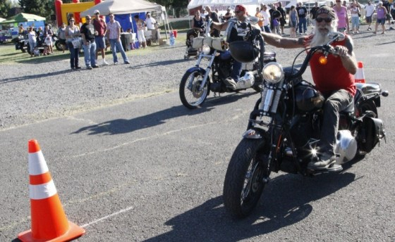 Mayor Bucky had a great time competing in all the biker games at the Rip City Riders event in Klamath Falls, Oregon