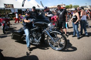 Tricked-out bikes filled the blacktop for the 3rd annual Baddest Bagger in Arizona bike show on Saturday