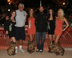 Law Tigers girls Nicole Martin, Natalie Munoz, Marissa Barton and Sarah Johnson with Mark Ruffalo, president of the SoCal Dealers Association, and Harley-Davidson District Manager Paul Hawkins