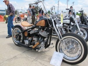 """Dennis Henderson's """"Half-Breed"""" took first place in the 1930-'47 Flathead Mild Custom class"""