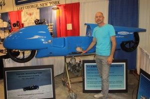 Scott Kolb and his record-holding 125cc speed racer