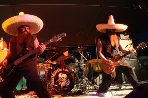 Beer Drinkers and Hell Raisers, a ZZ Top tribute band out of the SF Bay Area, played a scorching performance Saturday night as the bike went up in flames