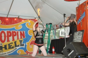 Hellzapoppin left the crowds in shock and awe with their circus sideshow performances at Laconia H-D