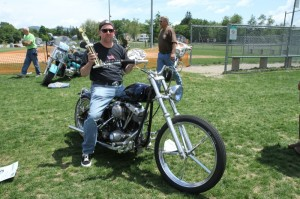 Scott Pardo's '74 FXE won the Best Old School Chopper as well as Best in Show at the Laconia Bike Show on Friday