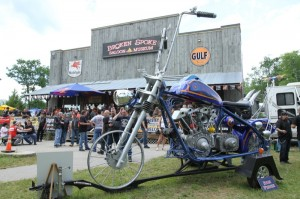 Ron Finch displayed his fantastical creations at the Broken Spoke on Friday and Saturday