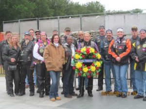 Rolling Thunder Chapter 2 New Jersey laid the chapter's wreath at the WWII Memorial
