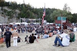 The party pit along the Eel River is where all the action takes place during the Redwood Run
