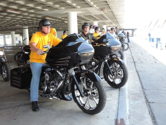 The Hamsters MC gathered to celebrate their friend and fellow HMC member's birthday at the Petersen Museum