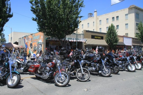Bikers were four deep in front of Johnny's Bar & Grill