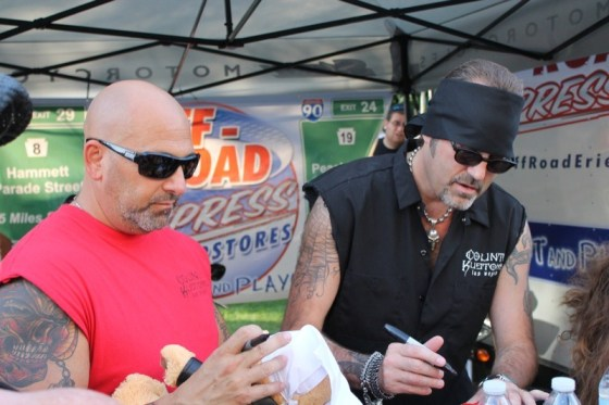 """Kevin and Danny """"The Count"""" from 'Count's Kustoms' sign autographs for fans"""