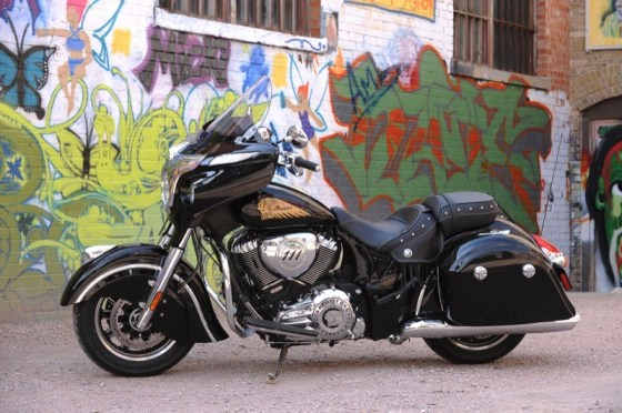 The Chieftain is the first fully-faired, hard-bagged model from Indian Motorcycle