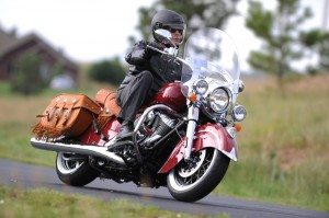 The iconic Indian Motorcycle war bonnet graces the front fender on all three Chiefs