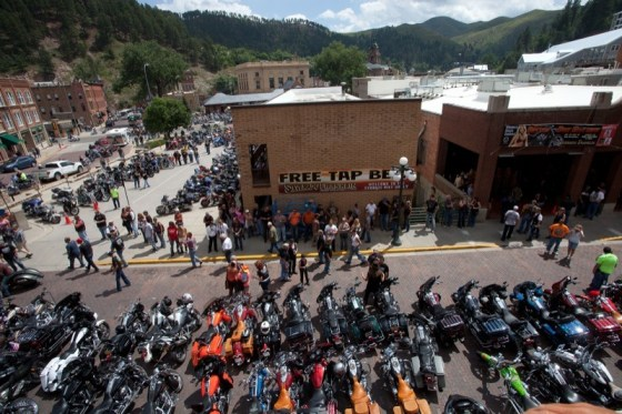 The 6th annual Sturgis Legends Ride gets set to take off from the Silverado-Franklin Hotel in Deadwood