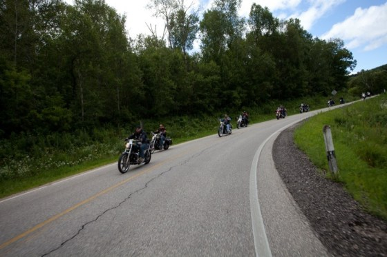 Just one of the many curves encountered in the Coulee Region on the Thunder Ride