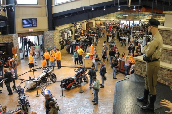 Triple S H-D opened its doors to MountainFest attendees eager to check out the dealership's new digs