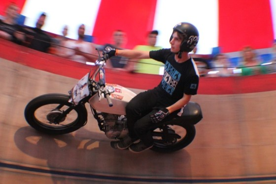 Kyle Ives circling the Wall of Death