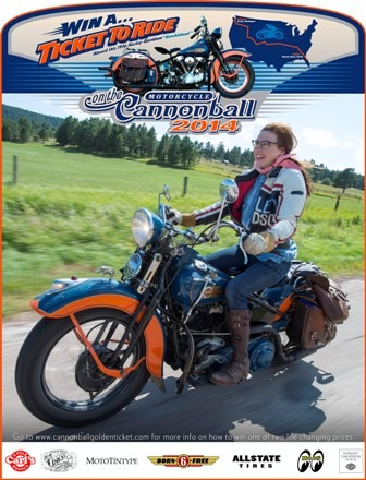 2014 Motorcycle Cannonball Run Golden Ticket Sweepstakes