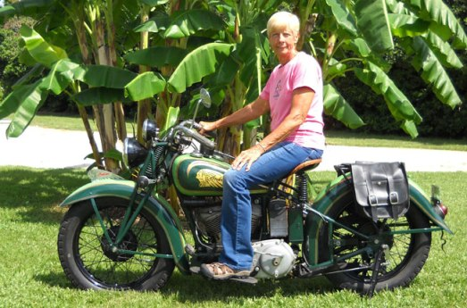 Dottie Mattern is gearing up to tackle the 2014 Motorcycle Cannonball Run aboard her 1936 Indian Sport Scout