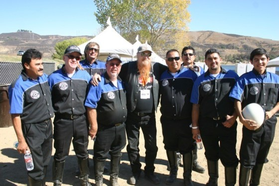 Mickey Jones with his favorite stunt team, the revitalized VMMC