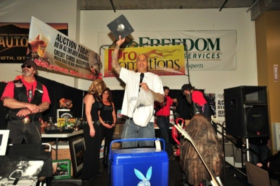 Labrava helps auction Sons of Anarchy memorabilia to benefit the Rocky Mountain Motorcycle Museum in Colorado Springs