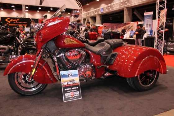Roadsmith introduced the first trike kit for the 2014 Indian Chieftain