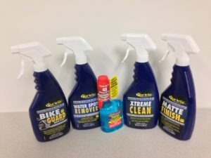 Up for grabs in the May, 28, 2014 eNews Sweepstakes is Star brite Solutions™ Xtreme Clean, Bike Guard, Water Spot Remover, Matte Finish Detailer and Enzyme Fuel Treatment