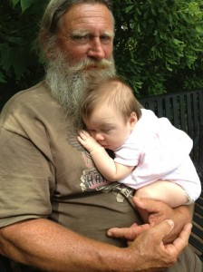 Panhead Billy with his granddaughter Ava - photo courtesy of Panhead Billy