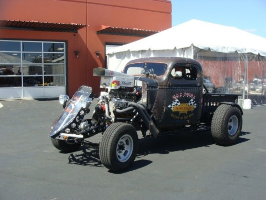 One of the more radical rat rods at Saturday's Rock-a-Billy Show