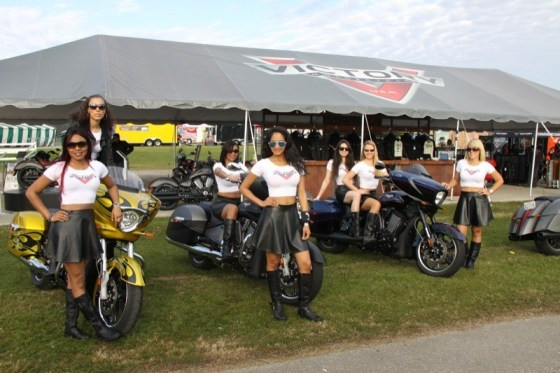 The Victory girls show off their curves at International Speedway
