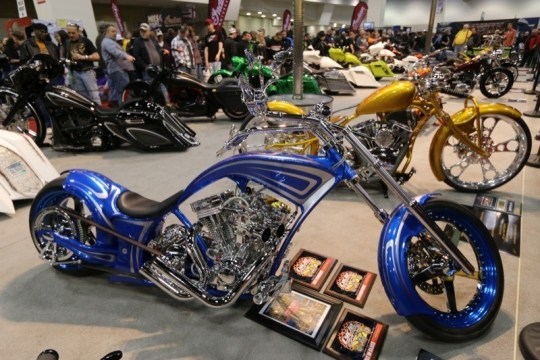 Michael Vruno's low-slung Pro Street took top honors in the Pro Custom competition