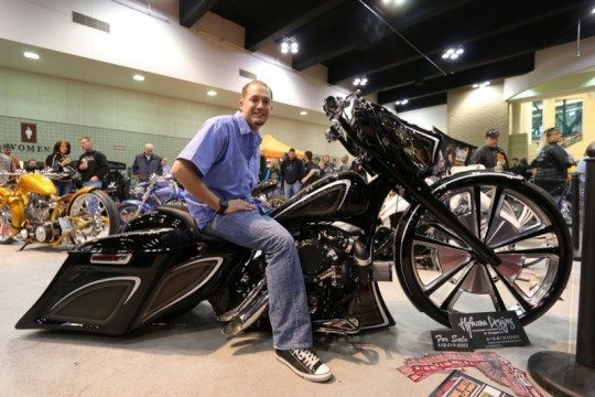 Curt Hofmann of Hoffman Designs won a well-deserved first place in the Pro Bagger competition