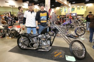 Bruce Gervais' first bike, this '38 Knucklehead, is also his son Dan's first bike. They restored it together and won 3rd place in the Pan/Knucklehead-Full Custom class.