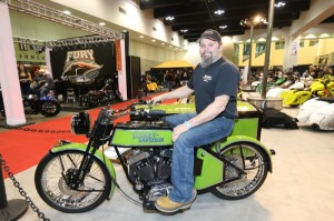 Cabana Dan Rognsvoog took second place in the Pro Custom class with his Arlen Ness Vintique-inspired Sportster with sidecar