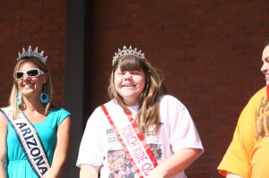 Chy Johnson (r) was crowned this year's Torch Ride Queen