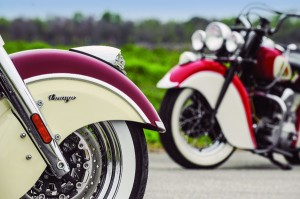 Sneak peek at the two-tone paint scheme on Indian's 2015 Chief lineup