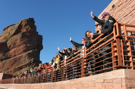 The women of the Steel Horse Sisterhood at the Red Rocks Amphitheater