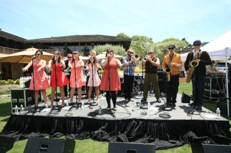 The Inciters warmed up the afternoon with some 60's soul