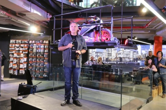 H-D President and COO Matt Levatich welcomed the press and VIPs to the launch of Project LiveWire at H-D of NYC