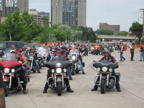 Riders line up at Whiskey Junction for take-off